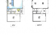 室内全面改装の図面